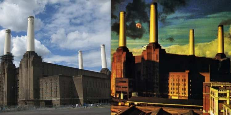 Battersea Power Station - foto e copertina dell'album Animals