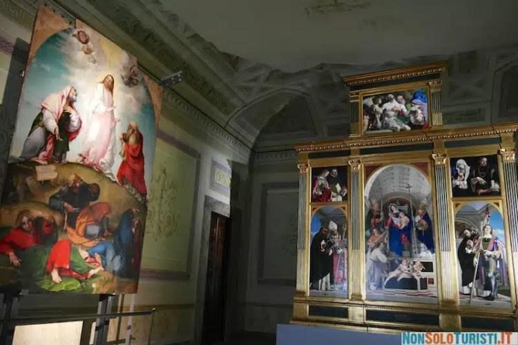 Polittico di San Domenico di Lorenzo Lotto nel Museo Civico Villa Colloredo Mels - Recanati, Marche