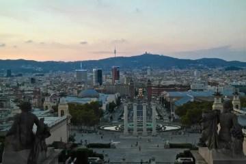 Barcellona, vista su Piazza di Spagna