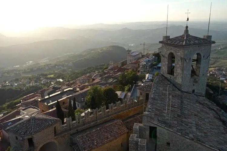 Vista dalla torre - San Marino