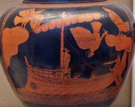 Ulysses - Greek vase