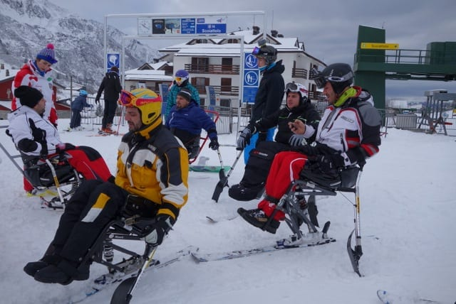 Sci per ragazzi paraplegici al Tonale