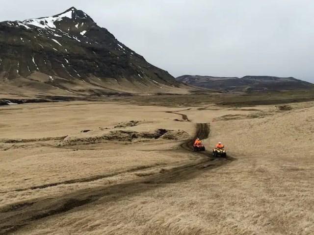 Con i quad in Islanda