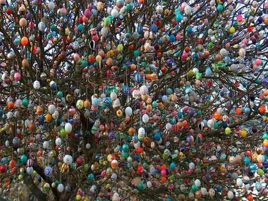 Albero con uova pasqua (foto odditycentral.com)