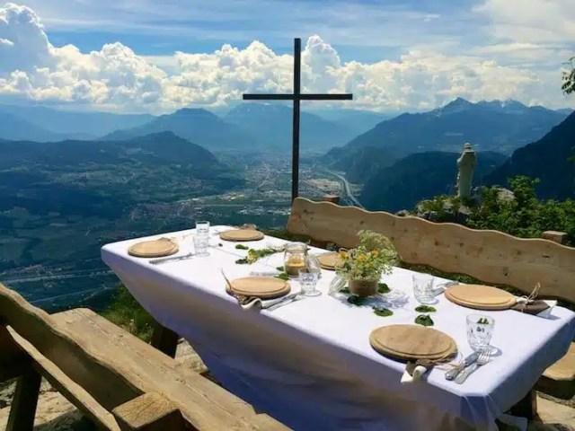 Pranzo ad alta quota in Paganella, Trentino, Italy