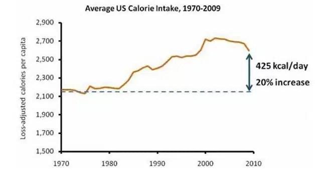 Assunzione di calorie - USA