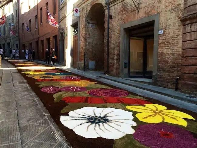 Infiorata - Città della Pieve, Italia