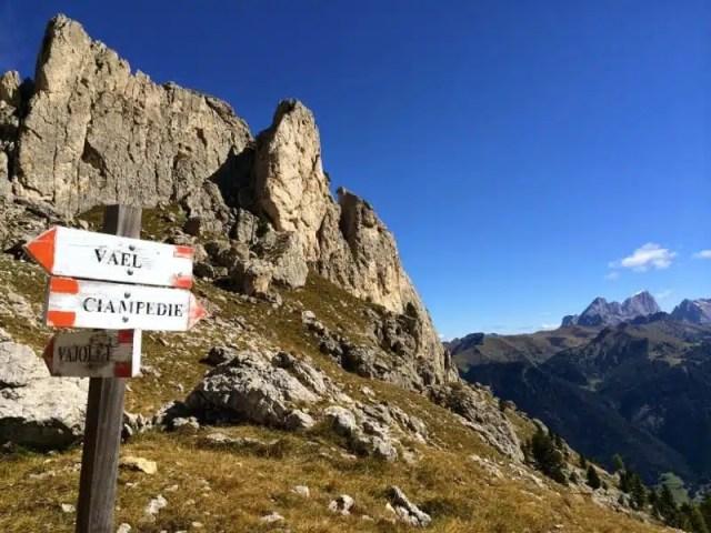 Sentieri delle Dolomiti, Trentino