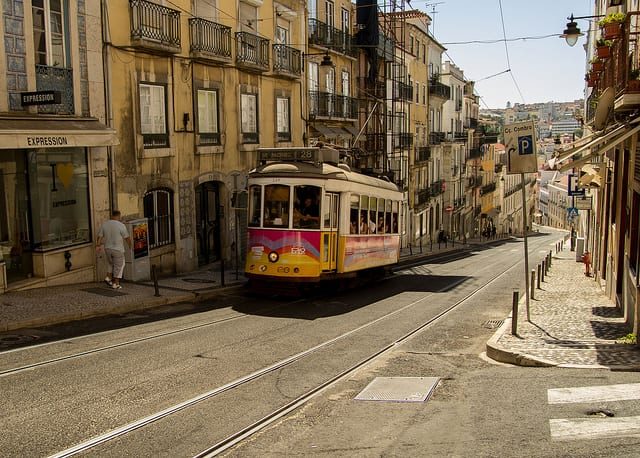 Tram 28 - Lisbona, Portogallo