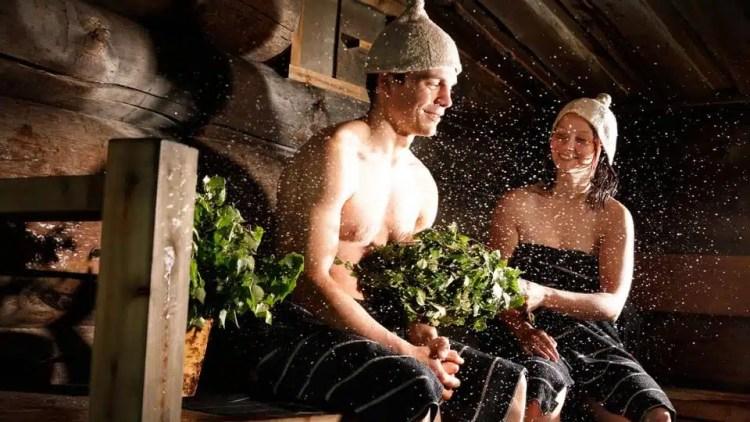 La vera sauna in Finlandia