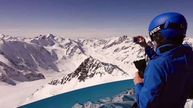 Panorama dal caffè 3440, Pitztal Glacier, Tirolo