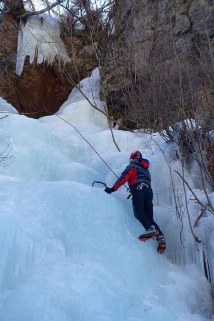 Cascata di ghiaccio in Pitztal, Tirolo