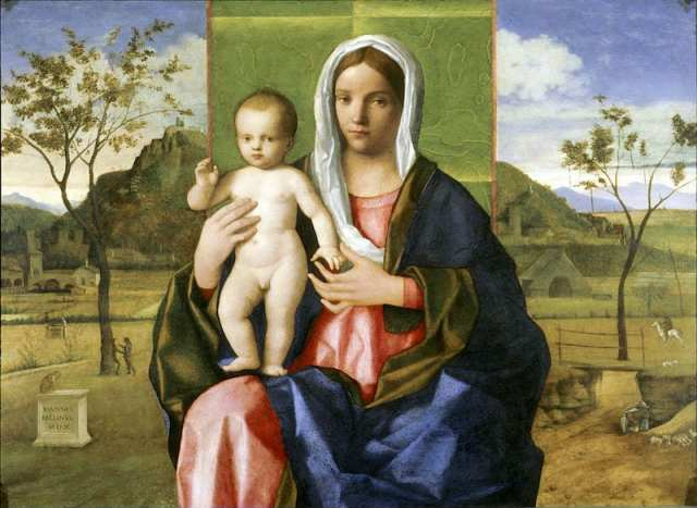 Madonna col Bambino benedicente di Giovanni Bellini - Detroit Institute of Arts