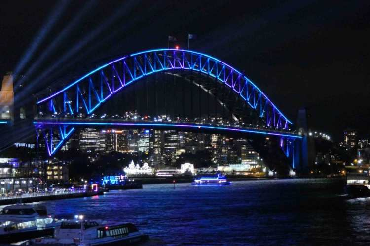 harbour bridge vivid