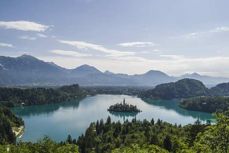 Vista del Lago di Bled dall'alto
