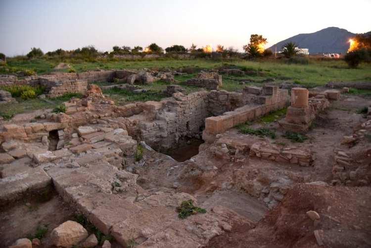 Tramonto nel sito romano di Pollentia ad Alcúdia