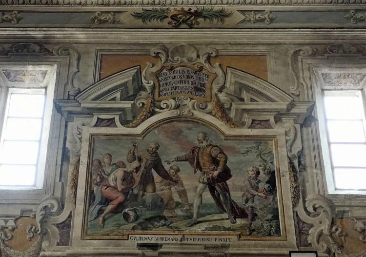 Affreschi del Borremans della chiesa SS 40 Martiri della guilla al mercato capo di Palermo