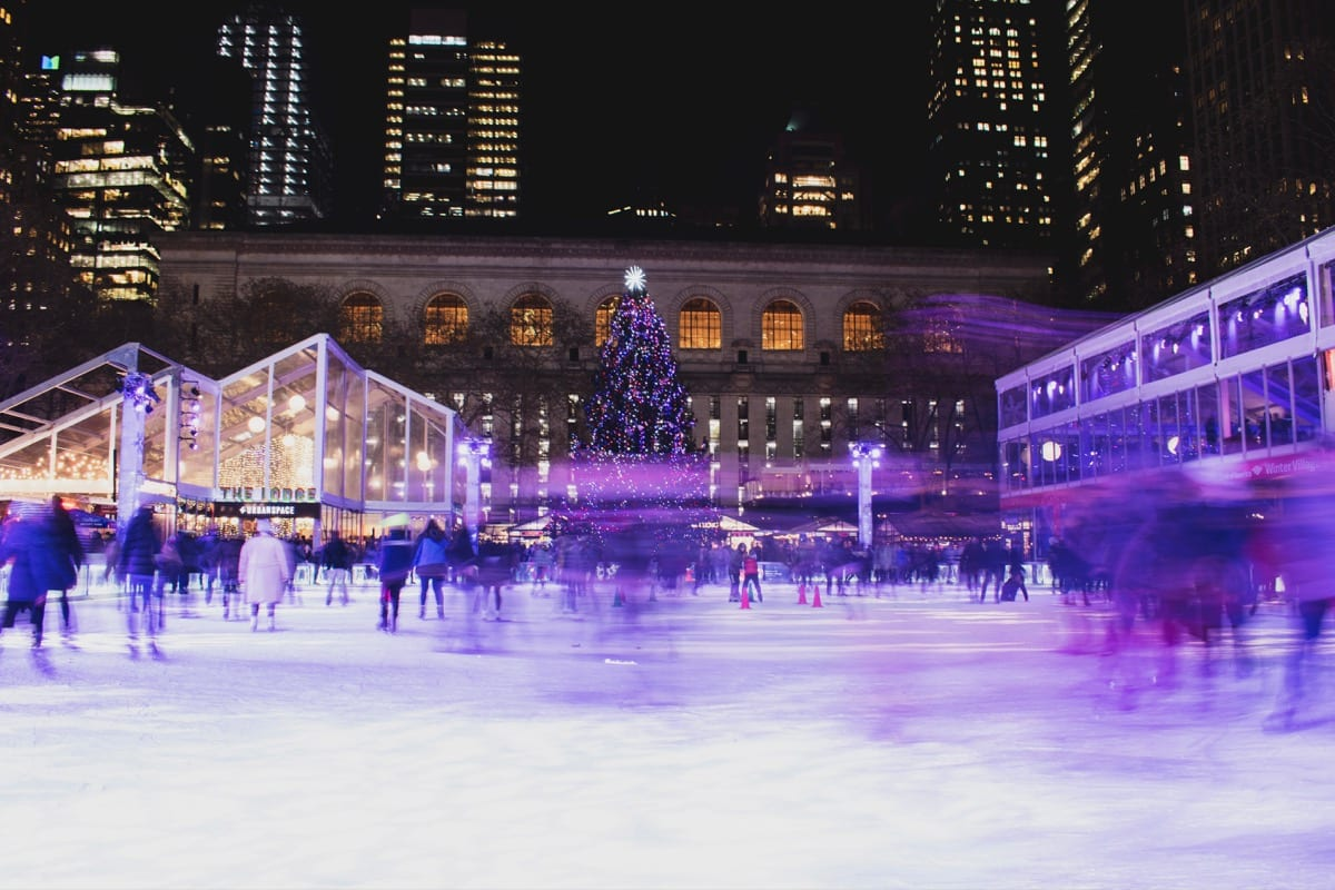 Bank of America Winter Village a Natale a New York