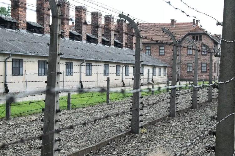 Il campo di concentramento di Auschwitz-Birkenau in Polonia