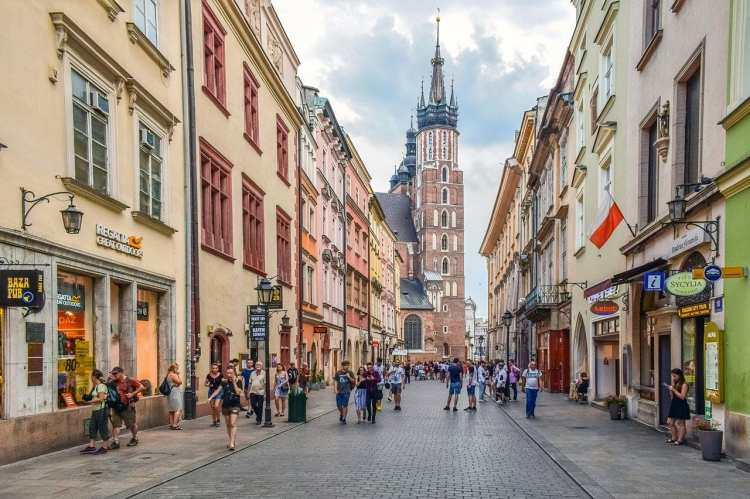 Il quartiere di Florianska a Cracovia