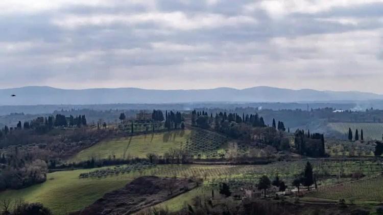 panorama sulla Toscana