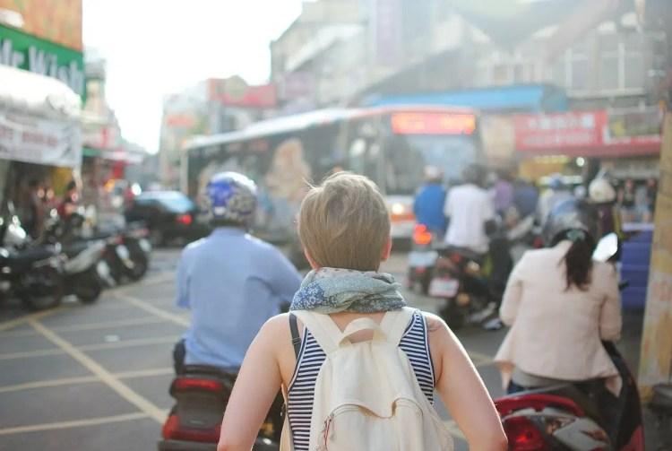 viaggiatrice in citta'