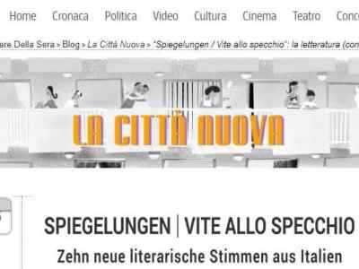 """Spiegelungen appare su """"La città nuova"""", blog del Corriere della Sera"""