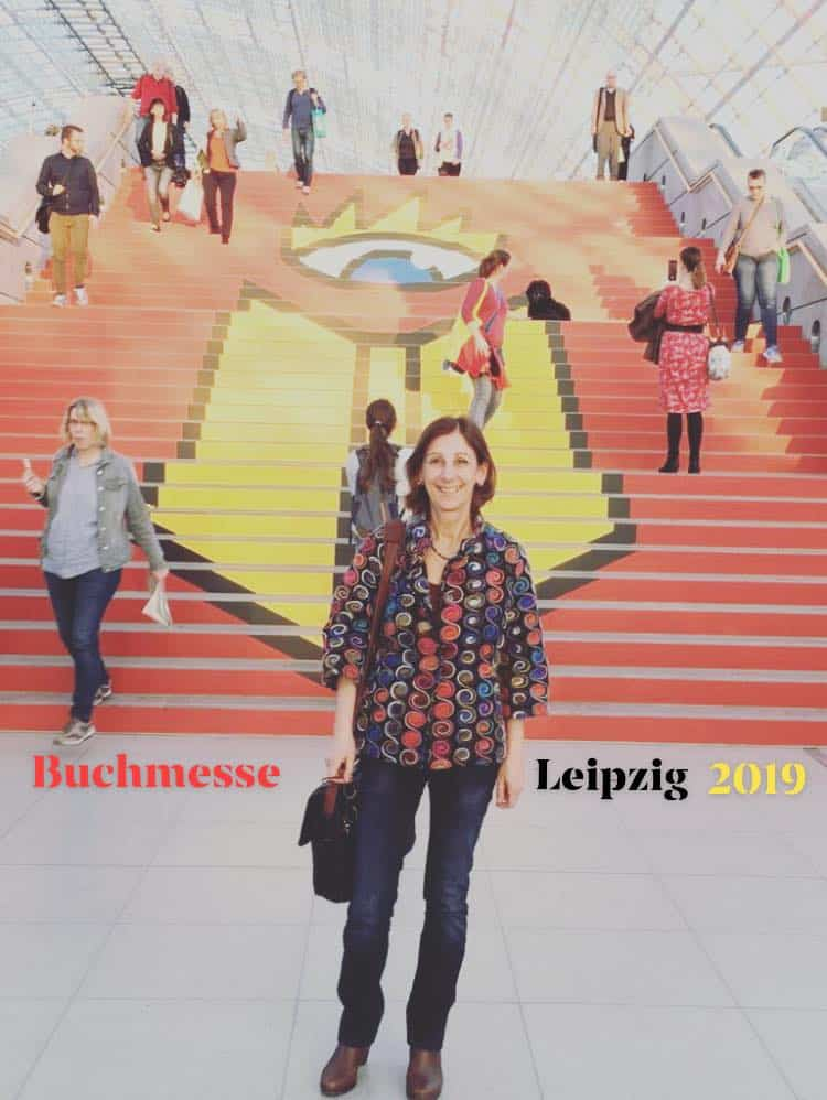 L'editrice Alessandra Ballesi-Hansen alla Fiera del Libro di Lipsia 2019