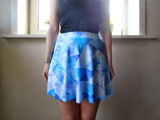 Clothes & Dreams: New skirt with cool message :D: Textile Federation Prysmatic Sky skirt