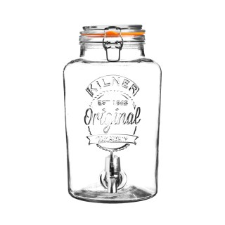 CLIP TOP ROUND DRINKS DISPENSER 5LT
