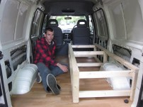 This is the point craig realised he'd built it for the wrong side of the van