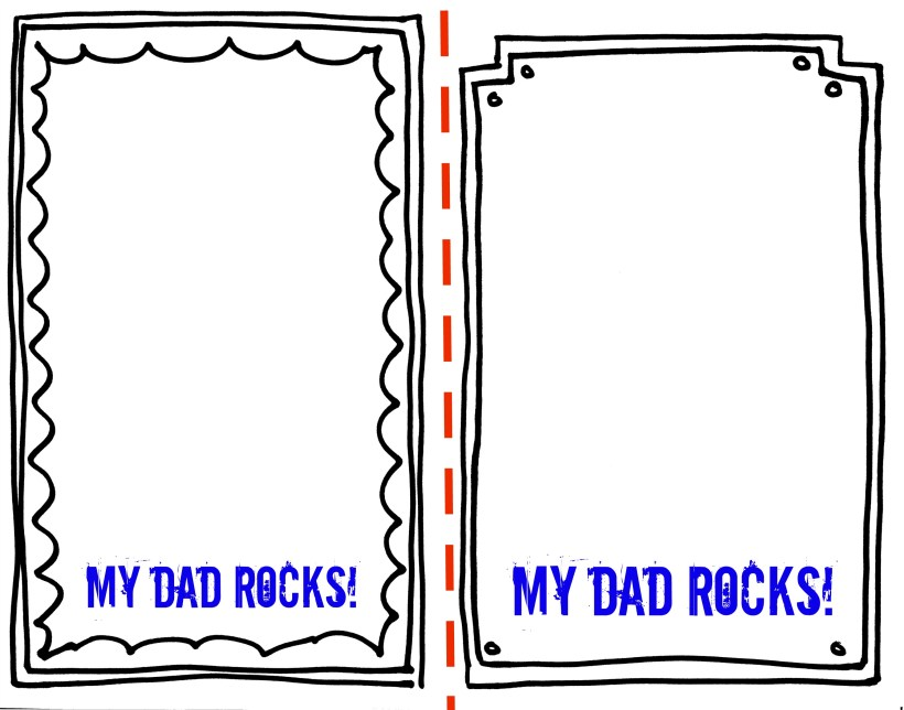 Printable Picture Frames For Father S Day | Allcanwear.org