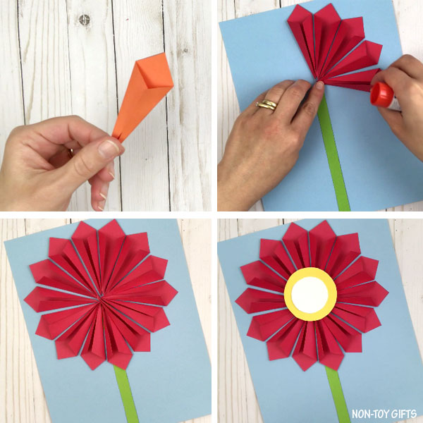 3D paper flower craft for Mother s Day   3D paper flower craft process collage