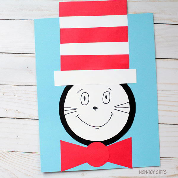 Cat In The Hat Craft Template Non Toy Gifts