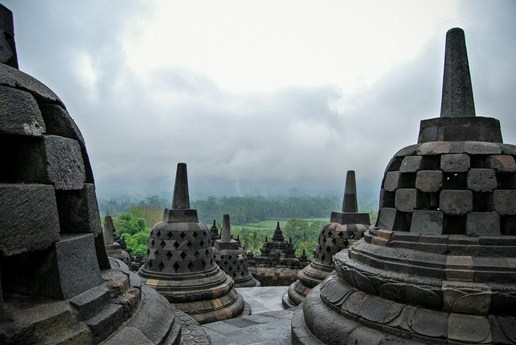 photo temple borobudur java indonésie