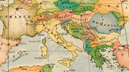 carte italie détaillée