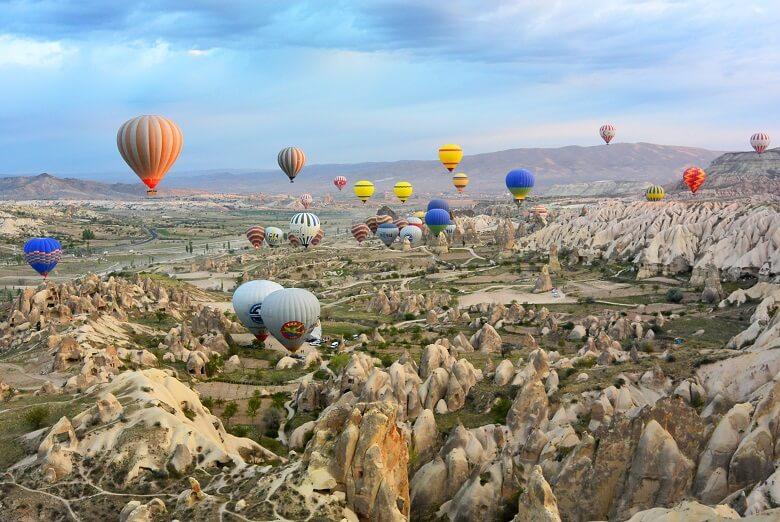 cappadoce turquie montgolfière
