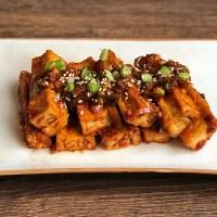 Pittige Koreaanse tofu: dubu jorim