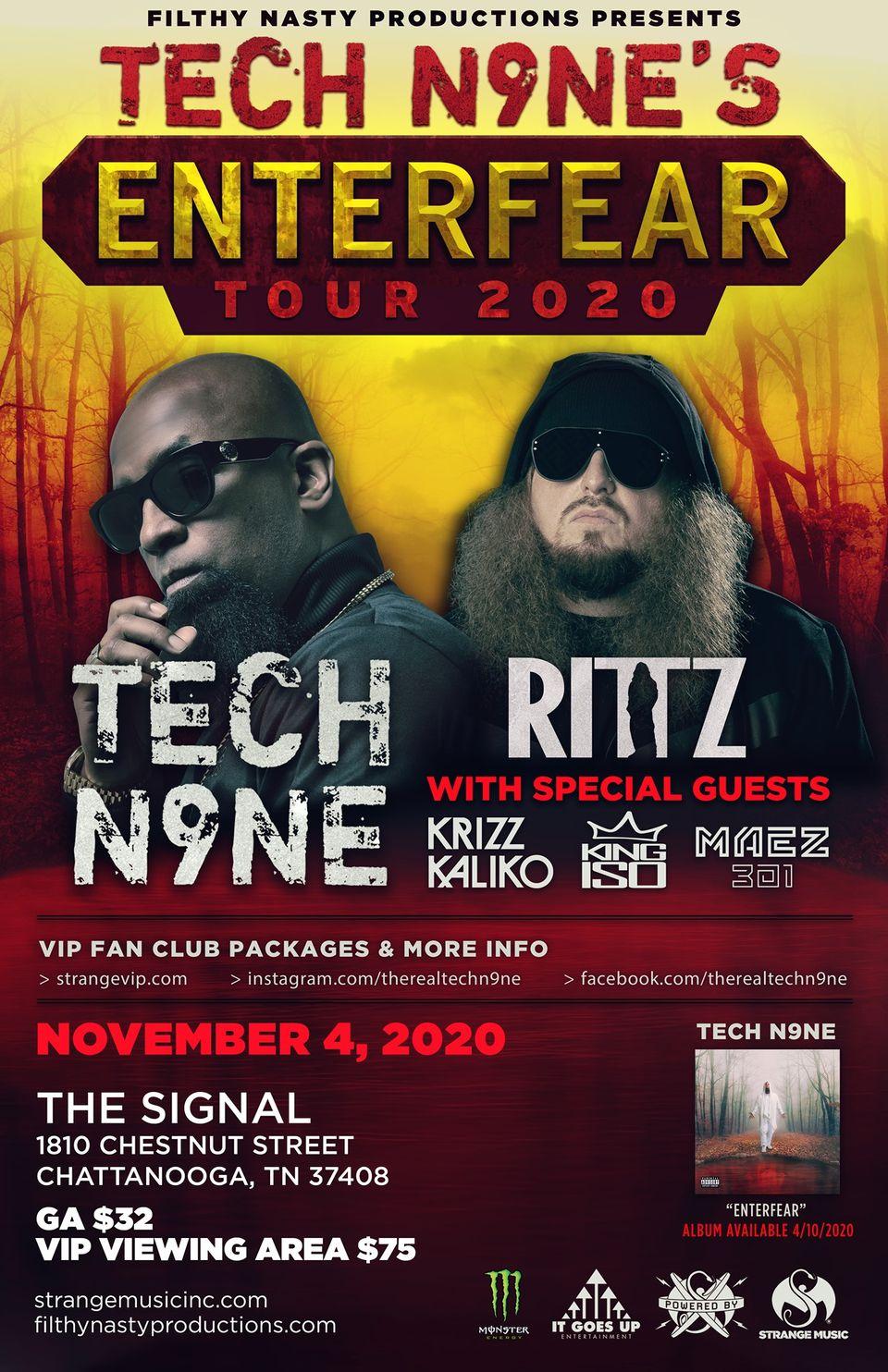 Tech N9ne's Enterfear Tour 2020 w/ Rittz, King Iso & Maez301