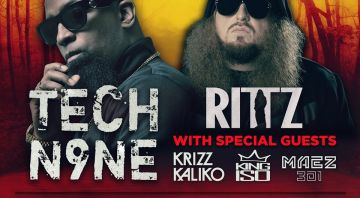 Tech N9ne's Enterfear Tour 2020 w/ Rittz, King Iso & Maez301