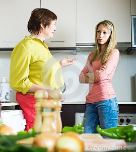 mature-mother-daughter-having-serious-conversation-adult-kitchen-41549496
