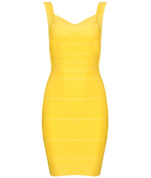 Bandage Bodycon Kleid gelb