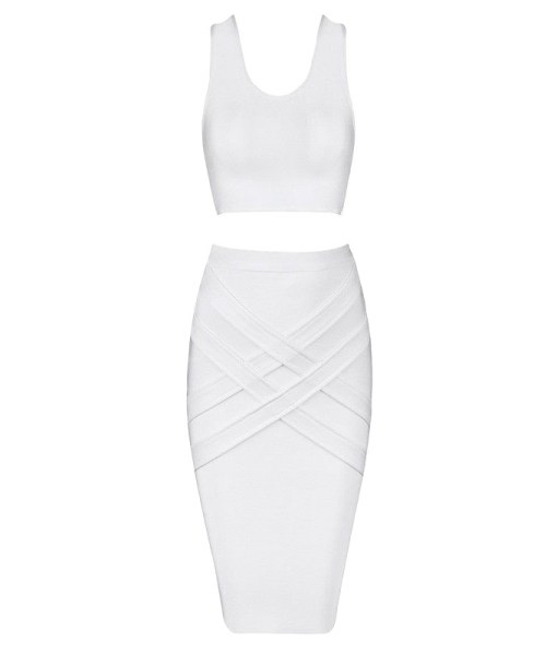 Bandage Bodycon Set weiss