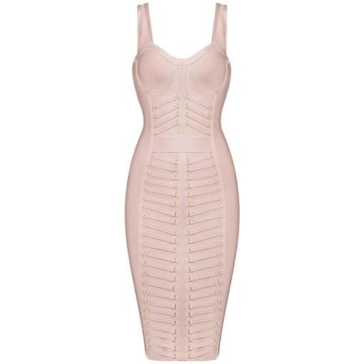 Bandage Bodycon Kleid nude
