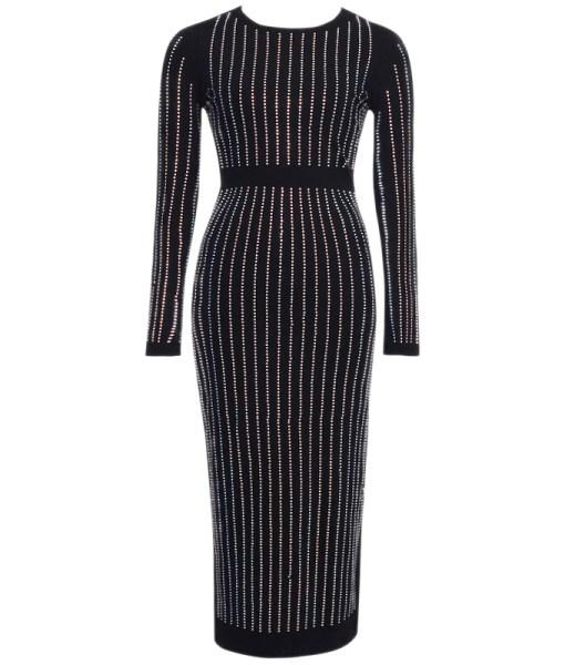 Bodycon Kleid Midi schwarz