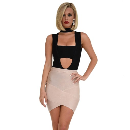 Bandage Bodycon Rock Mini nude