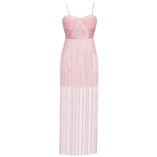 Bandage Fransen Kleid rosa