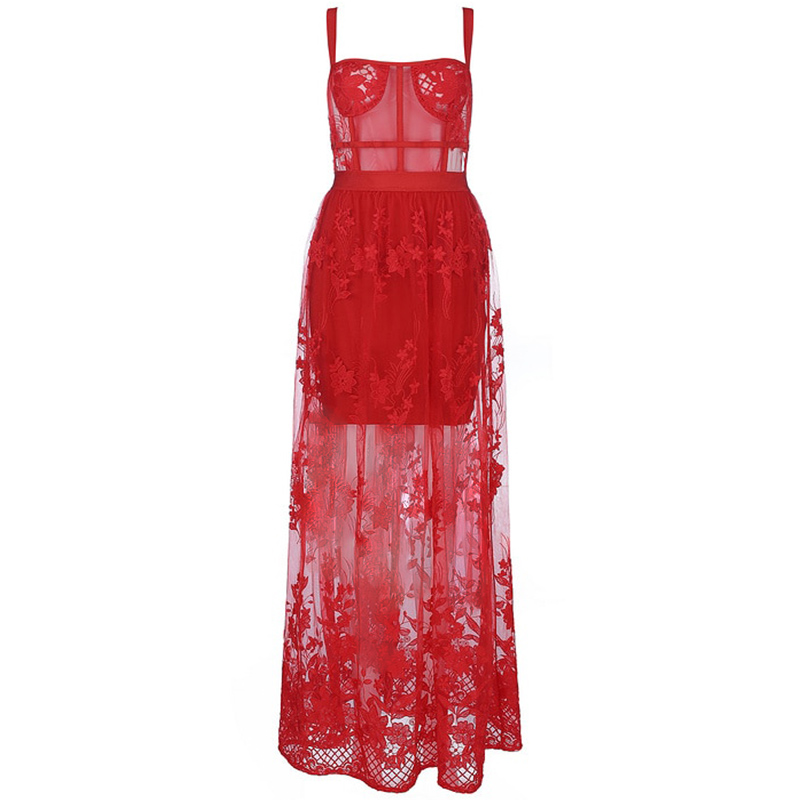 Bandage Abendkleid rot
