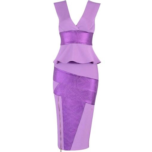 Bandage Bodycon Set lila violett