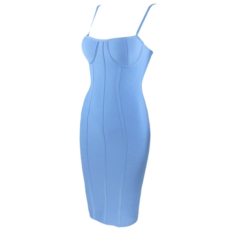 Produktbild Kleid blau Seitenansicht